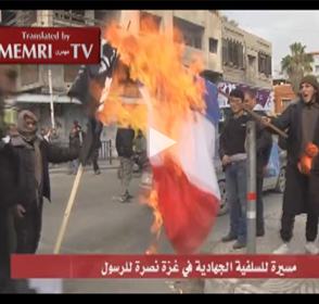 ISIS Supporters Demonstrate against France in Gaza: We Will Slaughter Whoever Mocks