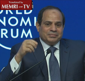 Egyptian President Al-Sisi at Davos: Time Has Proven the Genius Nature of Sadat's