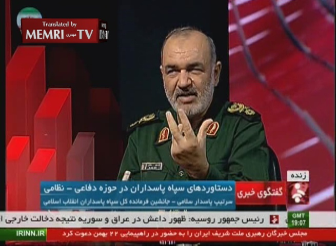 Iranian General Salami: We Tested Sinking Aircraft Carriers with Cruise and Ballistic Missiles