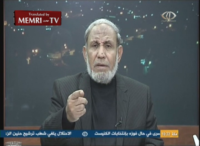 Hamas Leader Mahmoud Al-Zahhar Defends Relations with Iran: We Maintain Ties with Countries that Believe in Our Ideology