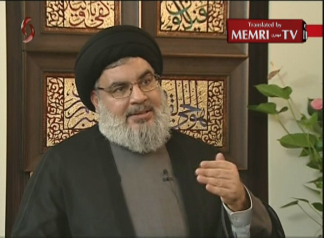 Hizbullah Secretary-General Nasrallah: Hizbullah Is Incapable of Launching War against Israel by Itself