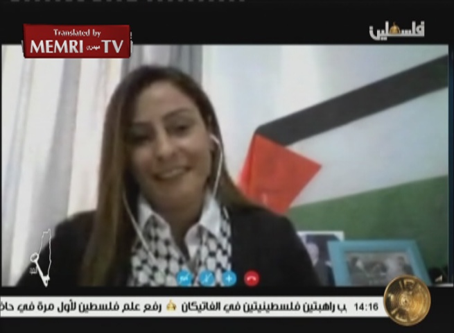 Exiled Fatah Terrorist Amna Muna on PA TV: We Will Continue on Our Path until Our Entire Land is Liberated