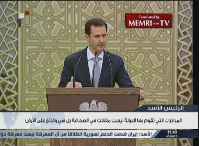Syrian President Bashar Al-Assad: Nuclear Deal Is a Victory for Iran