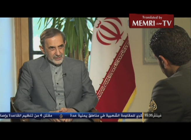 Khamenei's Advisor Ali Akbar Velayati: Inspectors Will Not Be Allowed into Iranian Military Sites