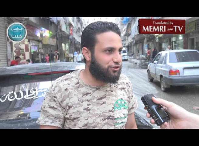 Jabhat Al-Nusra Members in Aleppo Respond to Nuclear Deal: America Is the Great Satan
