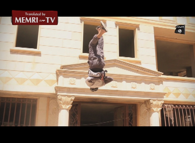 Warning: Graphic. ISIS Video Documents Execution of Two Men Accused of Homosexuality in Homs, Syria