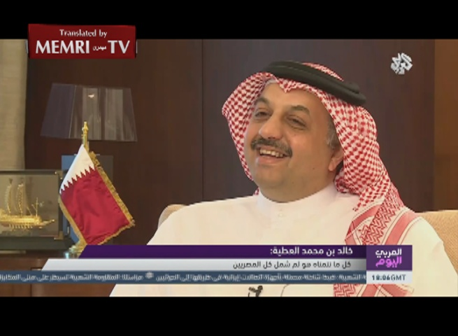 Qatar FM Khalid bin Mohammad Al-Attiyah: Jabhat Al-Nusra Should Split from Al-Qaeda; Opposition to Qatar's World Cup Bid Is Racist