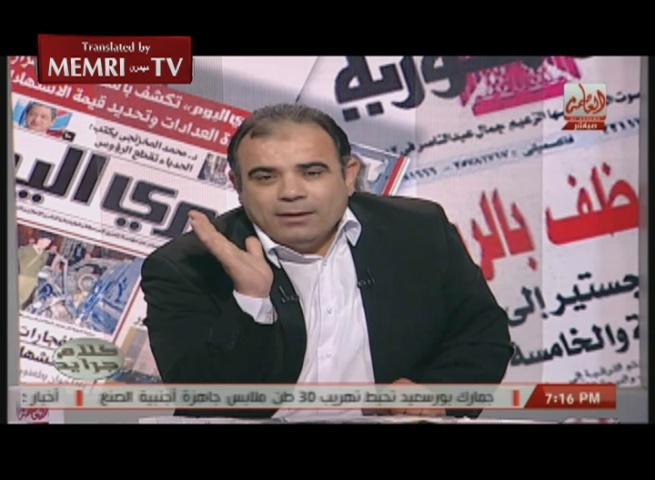Egyptian TV Host and Journalist Magdy Tantawy: We Need a Just Dictatorship