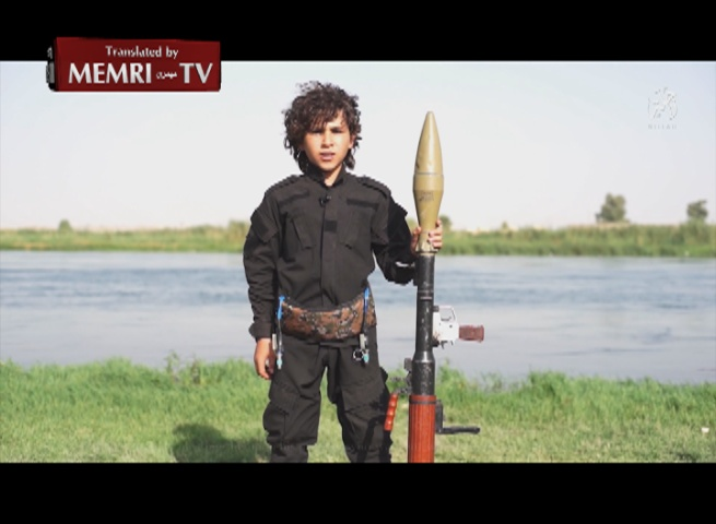 ISIS Video: Boy Threatens to Chop Off President Obama's Head If He Does Not Pay the Jizya Poll Tax