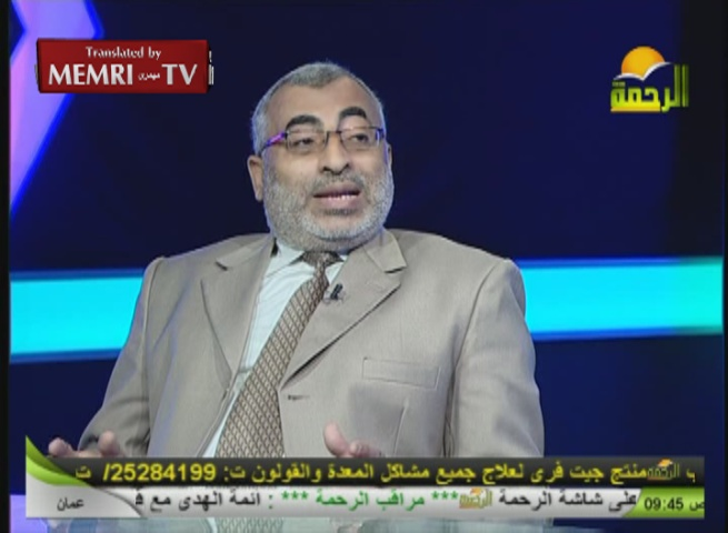 Egyptian TV Host and Historian Concur: Burning Is the Only Solution for the Jews