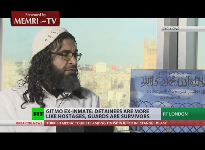 Ex-Inmate Shaker Aamer to Russia Today TV: Families Should Refuse to Send Their Sons to Serve in Guantanamo