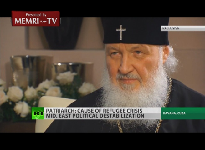 Patriarch Kirill, Head of Russian Orthodox Church: Ties between Russian and American Christians May Improve Political Relations between the Two Countries