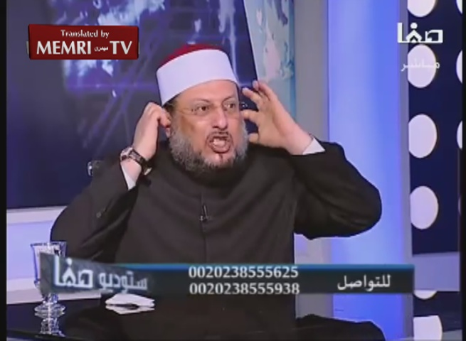 Egyptian Sheikh Muhammad Al-Zoghbi and TV Host in a Tirade: 99% of Shiites Born Out of Fornication, as Proven by Post-Speicher Massacre DNA Tests