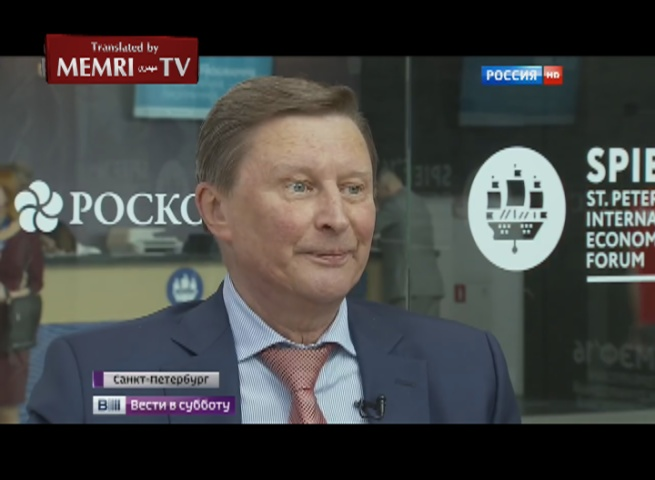 Chief of Russia's Presidential Administration Sergey Ivanov: I Would Like the Sanctions against Us to Remain