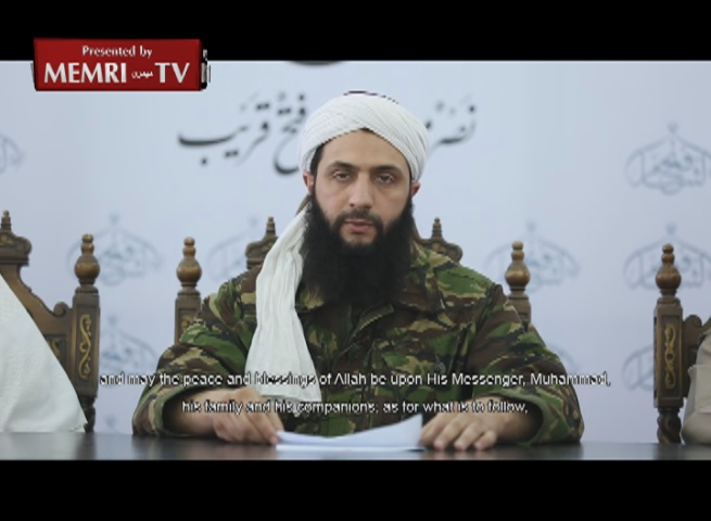 Jabhat Al-Nusra Leader Abu Muhammad Al-Joulani Establishes
