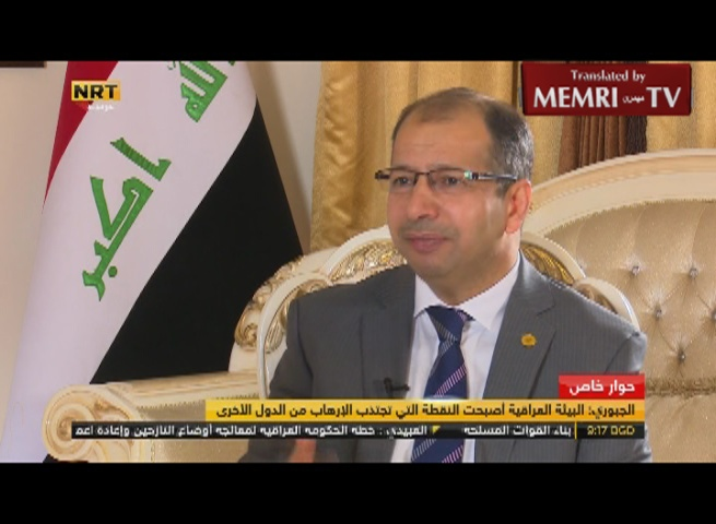 Iraqi Parliament Speaker Salim Jabouri: Militias Fighting ISIS Are Involved in Terrorism in the Liberated Parts