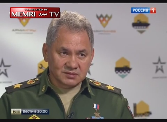 Russian Defense Minister Sergey Shoigu: The Americans Cannot Pinpoint the Terrorist Positions in Syria