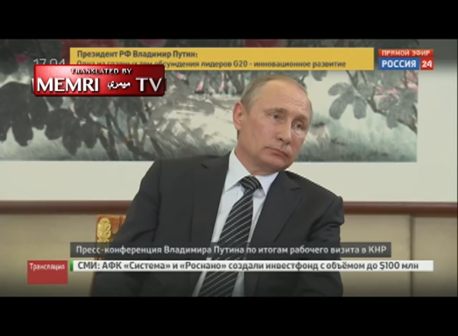 Russian President Putin: The U.S. Has to Cancel the Sanctions against Us