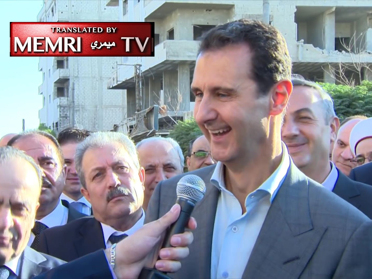 Syrian President Bashar Al-Assad: We Are on the Right Track; Happy that the West is