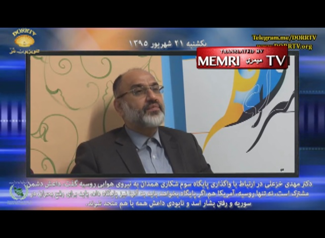 Iranian Dissident Mehdi Khazali Criticizes Iran's Qods Force Involvement in Syria: Soleimani's Mismanagement Destroyed Syria